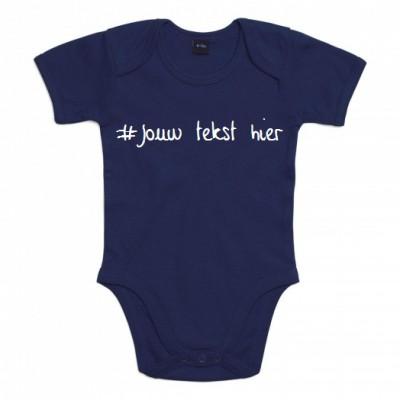 BABY ROMPER 100 % BIOLOGISCH KATOEN #JOUW TEKST HIER --> ONTWERP JE EIGEN ROMPER