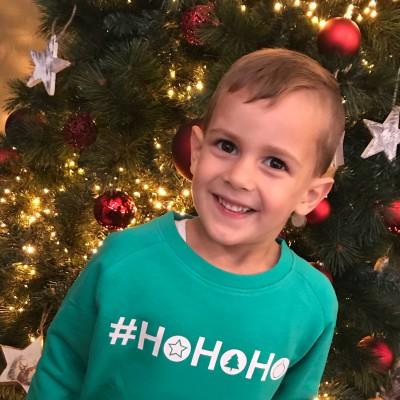 Jongens kerstsweater #HO HO HO