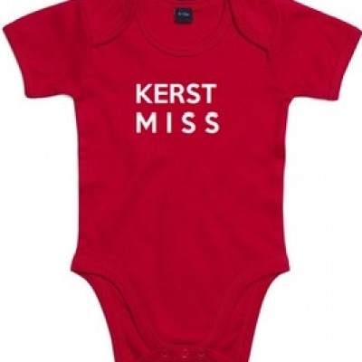 BABY ROMPER KERST MISS ROOD