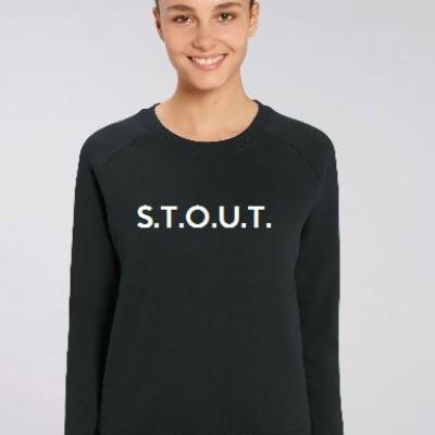 Vrouwen sweater Medium fit  S.T.O.U.T.