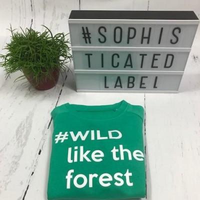 Jongens Sweater #WILD like the forest
