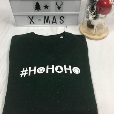 Mannen kerstsweater #HO HO HO
