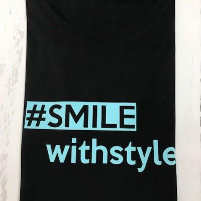 SOLDEN SMILE WITH STYLE T-SHIRT VROUW RONDE HALS MAAT XL KLEUR ZWART
