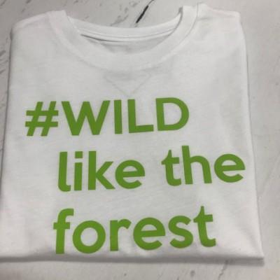 SOLDEN T-SHIRT JONGEN/MEISJE 5/6 JAAR KLEUR WIT #WILD llike the forest