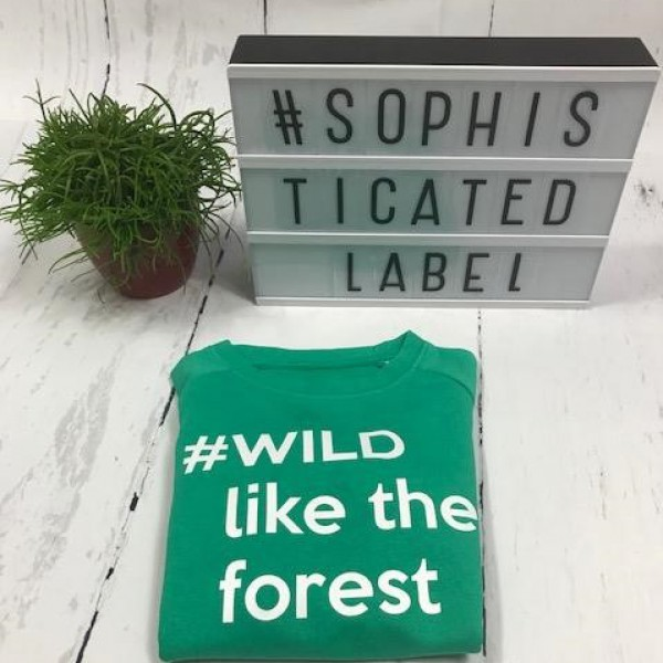 Jongens Sweater #WILD like the forest