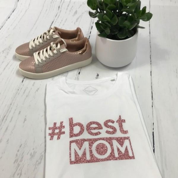 SOLDEN BEST MOM T SHIRT V HALS MAAT XL KLEUR WIT