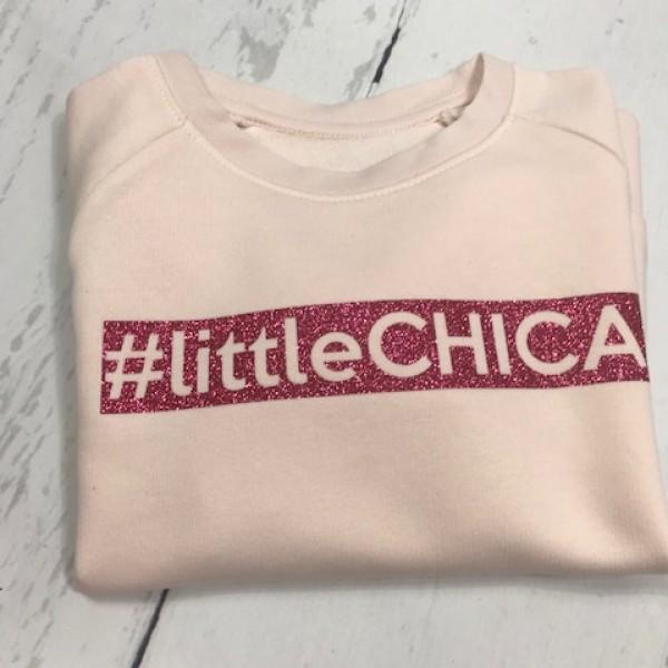 SOLDEN SWEATER MEISJE 5/6 JAAR #littleCHICA KLEUR LICHTROZE