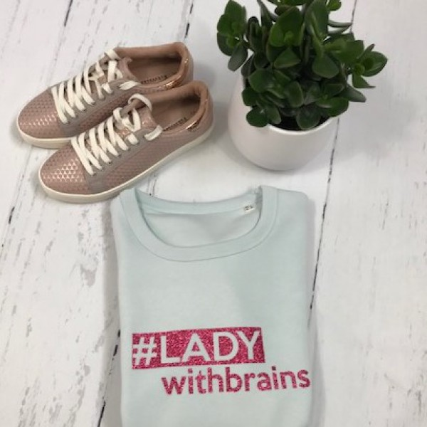 SOLDEN LADY WITH BRAINS SWEATER RELAX FIT VROUW MAAT L LICHTBLAUW