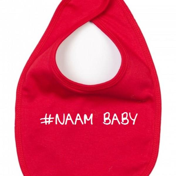 BABY SLABBETJE #NAAM BABY (ALS JE ANDERE TEKSTKLEUR WIL VERMELDEN IN OPMERKING)
