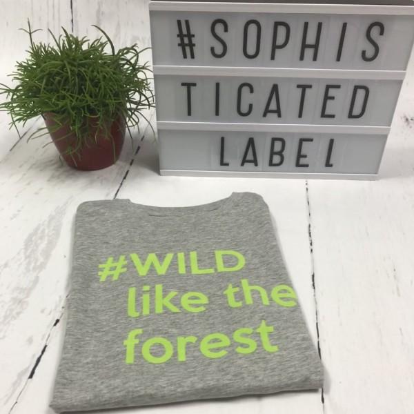 Jongens T-shirt #WILD like the forest