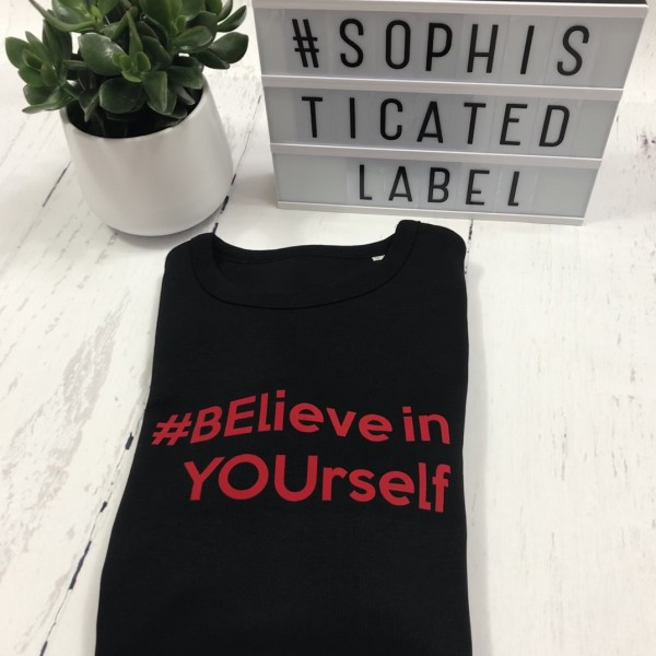 Vrouwen Sweater Relax fit #BElieve in YOUrself